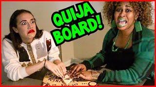 QUIJA BOARD CHALLENGE! // GloZell & Miranda