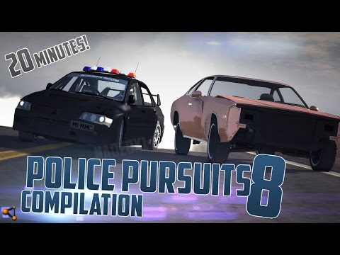 BeamNG.Drive Police Pursuits Compilation #8 - [HighSpeed Crashes and Rollovers - 20 Minutes 60FPS]
