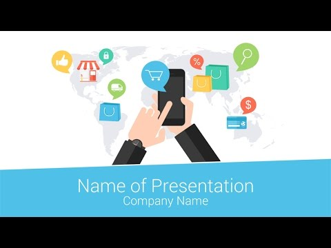 e-commerce powerpoint template - presentationdeck - youtube, Presentation templates