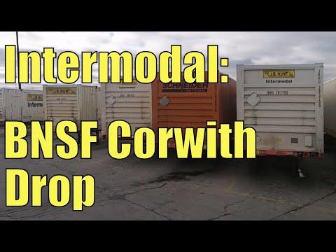 Driving A Truck In An Intermodal Yard (BNSF Corwith)