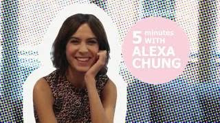 Alexa Chung talks about her girl crush & the wardrobe she would like to raid!