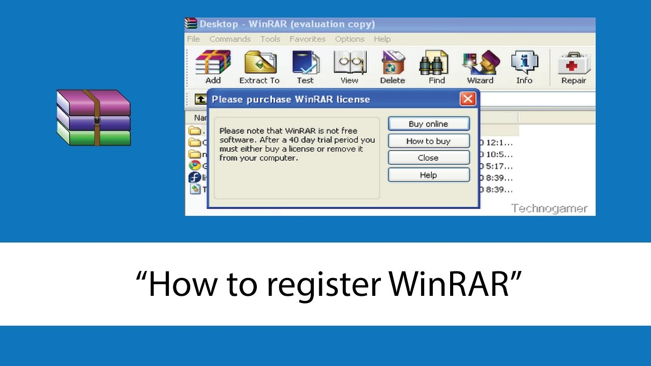 How to register/activate winrar