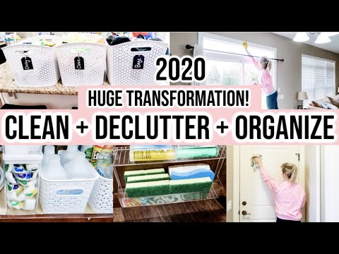 NEW! CLEAN + DECLUTTER + ORGANIZE WITH ME 2020 | KONMARI | HUGE DECLUTTER + CLOSET TRANSFORMATION