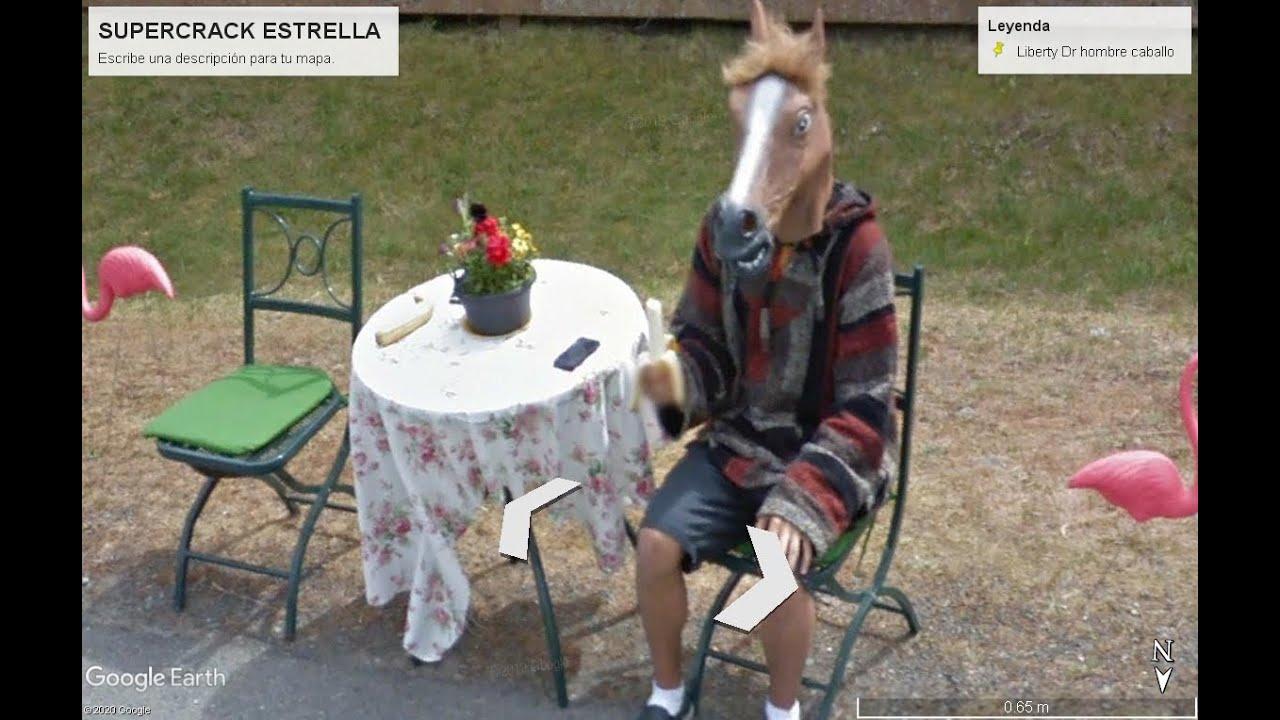 Google maps hizo un descubrimiento en plena calle Hombre caballo resuelto misterio