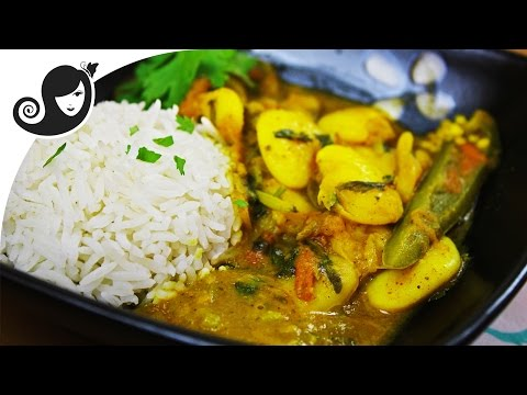 Butter Bean Curry (vegan/vegetarian curry, onion & garlic-free)