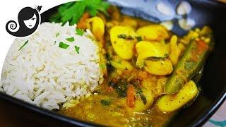 Butter Bean Curry (vegan/vegetarian curry, onion & garlic-free)