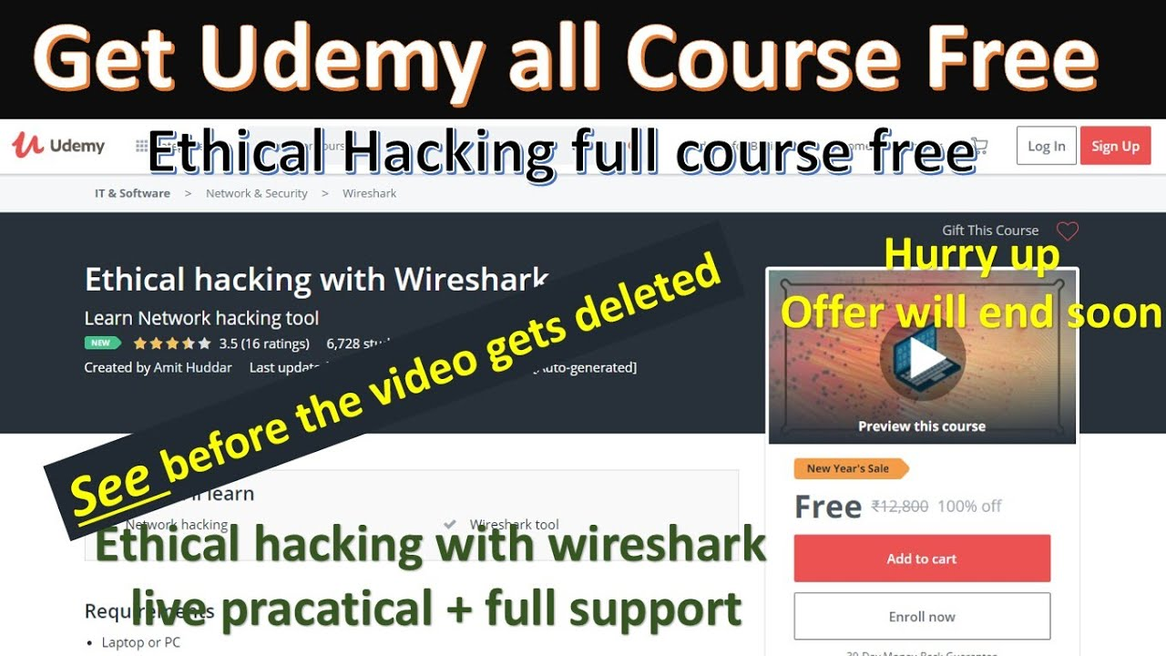 udemy ethical hacking full course | udemy free course | udemy ethical  hacking