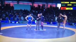 ДРАКА на чемпионате России по вольной борьбе 2017!!!