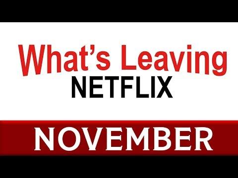 What's Leaving Netflix: November 2017