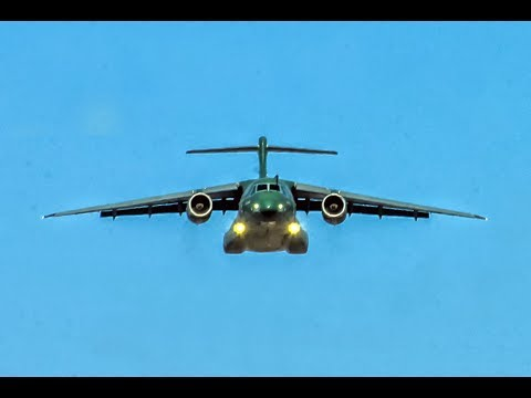 Embraer KC390 Press Flight over Santiago (Chile) -  FIDAE 20