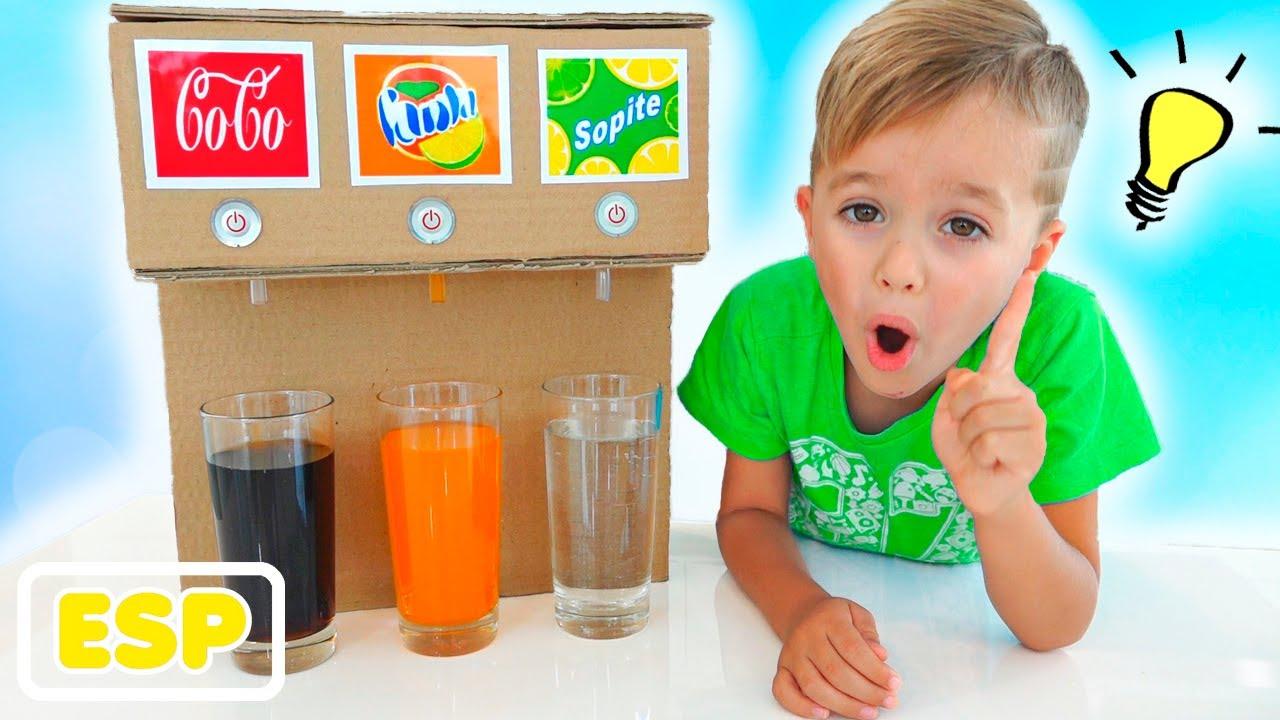 Vlad y Niki niños historia sobre la máquina dulce