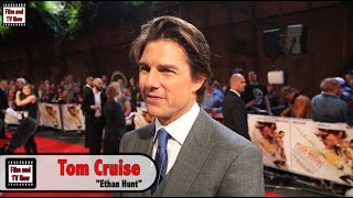 Tom Cruise Interview - Mission Impossible: Rogue Nation Premiere - He Discusses Almost Drowning