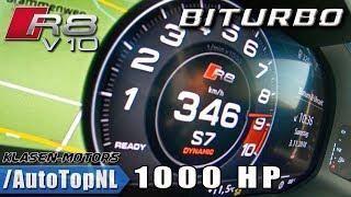 1000HP AUDI R8 V10 PLUS BITURBO Klasen 0-346km/h ACCELERATION & LAUNCH CONTROL by AutoTopNL