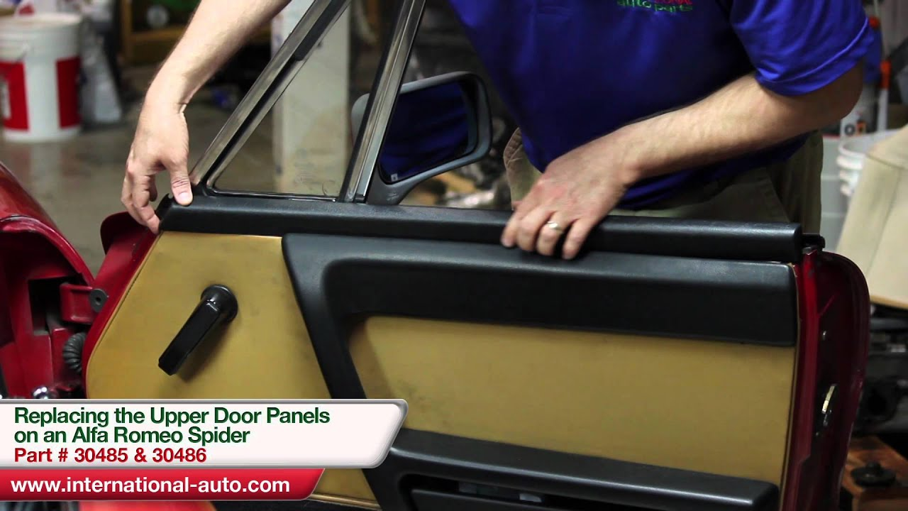 hight resolution of replacing the upper door trim on an alfa romeo spider international auto parts