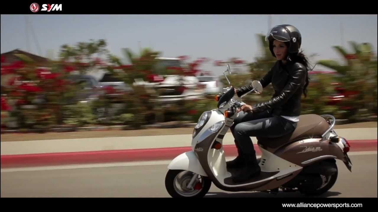 official sym mio 50 scooter video distributed by youtube. Black Bedroom Furniture Sets. Home Design Ideas