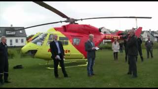 Akutlæge helikopter i Lohals på Langeland