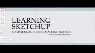 Sketchup For Personal Cutting Machines - Enviroment Template Setup