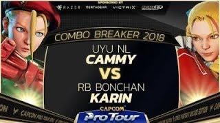 UYU NL (Cammy) vs. RB Bonchan (Karin) - Combo Breaker 2018 - Top 8 - SFV - CPT 2018