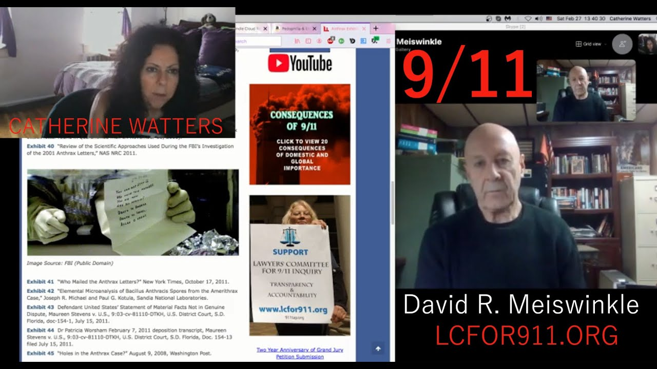 David Meiswinkle, President, LC for 911 Inquiry gives an update to Cat April Watters FEB 27, 2021