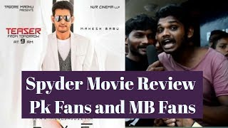 Spyder Review || Pk fans and Mb Fans