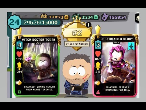 Level 5 Legendary Witch Doctor Token + Level 5 Shield Maiden Wendy Game Play