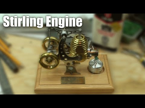 Stirling engine - My Dad had one in his workshop that he showed me, check it out.