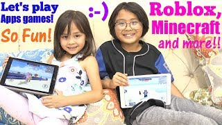 Playing ROBLOX, MINECRAFT and other APPS Games. Play w/ Hulyan and Maya! Toy Channel