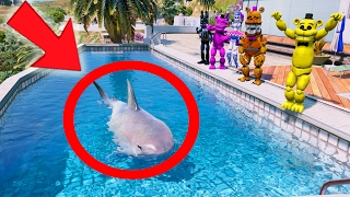 golden freddy s shark in a pool prank gta 5 mods for kids fnaf funny moments
