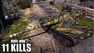 AMX 50B wot игра за всю команду 🌟 EPIC WIN 🌟 World of Tanks лучший бой на тт 10 уровня