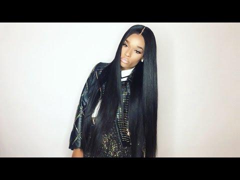 "Ali Hair  ( AliExpress ) Brazilian Straight 28"" Hair Review #AVADIM"
