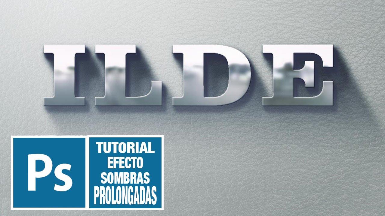 Tutorial Photoshop Editable objetos y texto con sombras largas (long ...