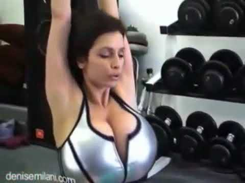 Denise Milani Breast Expansion Morph Workout (Female Fitness Motivation)