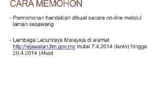 Jawatan Kosong LLM - Lembaga Lebuhraya Malaysia April 2014