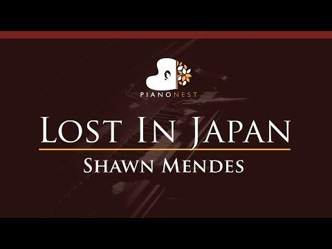 Shawn Mendes - Lost In Japan - HIGHER Key (Piano Karaoke / Sing Along)