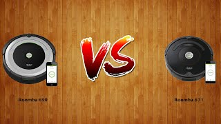 Roomba 690 vs Roomba 671   -  Robot Vacuum Comparison