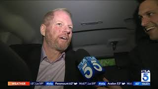 """KTLA rides to """"The Hot Zone"""" Premiere with Noah Emmerich"""