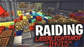 OPERATION RAID LASERLIGHTSHOT (INVIS LOOTING)   Minecraft HCF