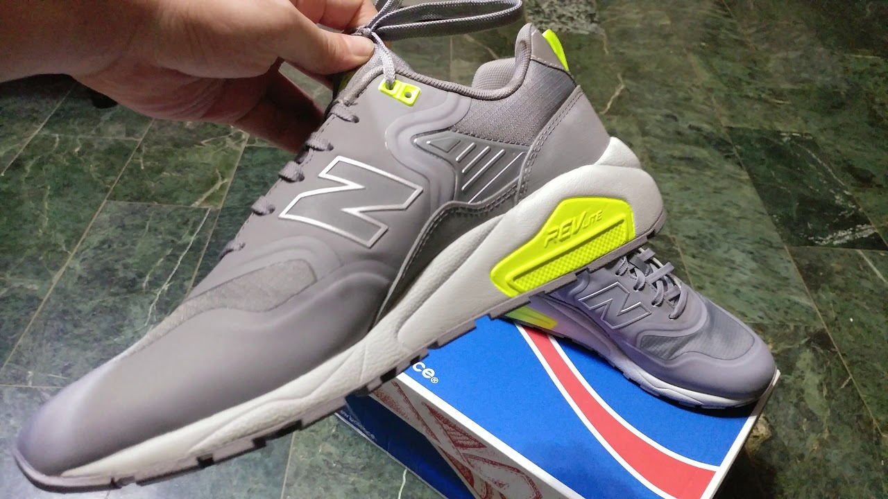 81b1ea9daf5 New balance 580 Re-Engineered MRT580TG GRAY Unboxing