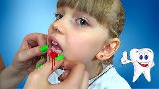 ВЫРЫВАЕМ ЗУБ! ШОК? УЖАС? НЕТ! Удаление первого молочного зубика без боли и слёз