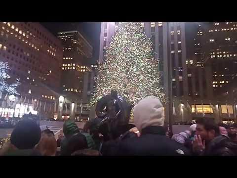 Christmas time by Rockefeller Center in New York City