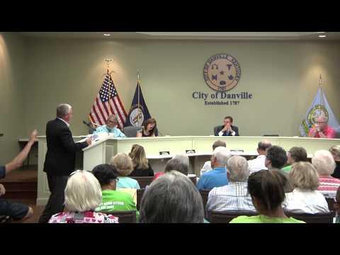 Danville Boyle County Senior Citizens discussion at the Danville City Commission Meeting