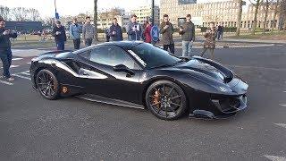 Full Carbon Black Ferrari 488 Pista - Lovely Sounds!