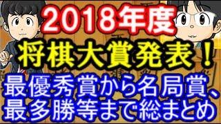 2018年度将棋大賞発表!藤井聡太七段はまさかのあの賞  最優秀棋士賞から名局賞、最多勝等まで総まとめ