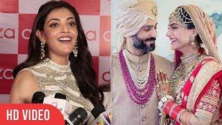 kajal agarwal reaction on sonam kapoor wedding sonam kapoor anand ahuja wedding