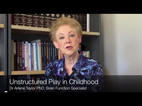 The importance of Unstructured Play in Childhood Dr Arlene Taylor Sensory Learning 4 Life