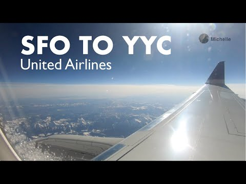 San Francisco (SFO) To Calgary (YYC) Flight - United Airlines | Taxiing, Takeoff, And Landing