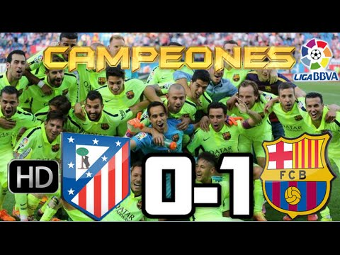 Atlético de Madrid 0-1 Barcelona  RESUMEN Y GOLES HD  CAMPEONES DE LIGA  17-05-15