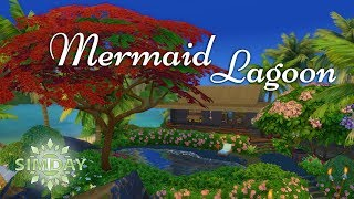 The Sims 4 Speed Build: Mermaid Lagoon (Stop Motion) | Island Living Base Game