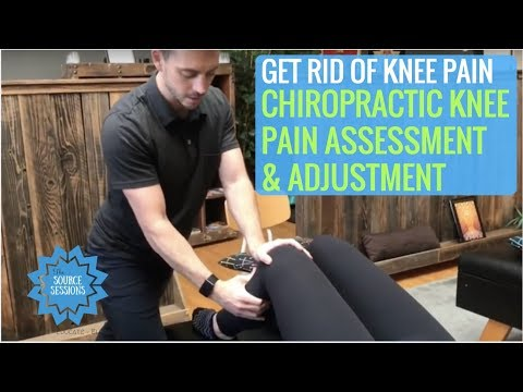 Chiropractic KNEE Assessment And Adjustment For KNEE Pain