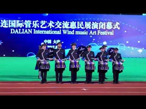Fascinating Drums perform at 2017 China International Wind Music Festival in Dalian